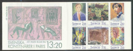 SUEDE 1988 - CARNET  YT C1481 - Facit H387 - Neuf ** MNH - Peintres Suédois - Carnets