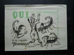 Guerre D'Algérie ,tract,Qui Nous Délivrera De Ces Scorpions Venimeux? - Historical Documents