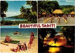 TAHITI .. BEAUTIFUL TAHITI .. MULTIVUES .. MEILLEURS SOUVENIRS DE TAHITI .. 1969 - Polinesia Francese