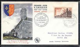 FDC 1955 - 1042  Série Touristique: Remparts De Brouage (Aunis) - FDC