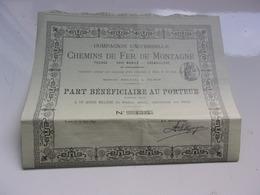 Compagnie Universelle Des Chemins De Fer De Montagne (1897) - Aandelen