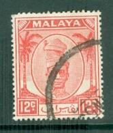 Malaya - Perak: 1950/56   Sultan Yussuf 'Izzuddin Shah   SG137    12c      Used - Perak