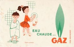 BUVARD  Gaz  Eau Chaude  D' Après Fix Masseau - Gas, Garage, Oil