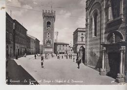 RECANATI MACERATA LA TORRE DEL BORGO E CHIESA S. DOMENICO  AUTENTICA 1951 - Macerata