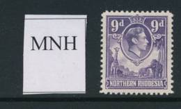 NORTHERN RHODESIA, 1938 9d Unmounted Mint MNH - Noord-Rhodesië (...-1963)