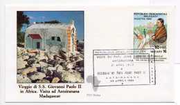 - MADAGASCAR - FDC Viaggio Di S.S. Giovanni Paolo II (Jean-Paul II) In Africa - ANTSIRANANA 29.4.1989 - - Papes