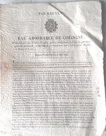 MEDECINE CHARLATANISME PARFUM EAU ADMIRABLE DE COLOGNE SAINT JULIEN  CHALONNES SUR LOIRE VERS 1850 - Documents Historiques