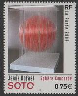 France Neuf Sans Charnière 2002 Sphère Concorde De Jesus Rafaël Soto  Peinture Peintre YT 3535 - Modern