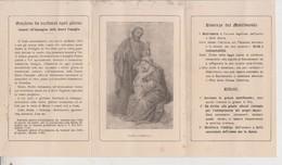 MILANO TESSERA MATRIMONIO 1919 PARROCCHIA SS. REDENTORE SACRA FAMIGLIA AUTENTICA - Documents Historiques