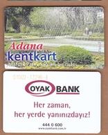 AC - MULTIPLE RIDE METRO, BUS, PASSENGER FERRY, TRAM PLASTICCARD ATATURK PARK ADANA, TURKEY PUBLIC TRANSPORTATION - Autres