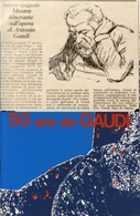Catalogo 50 ANS DE GAUDI (1926 - 1977), Istituto Culturale Spagnolo Di Santiago, Con Ritaglio Dell'epoca, 1980 - AM-V-2 - Cultura