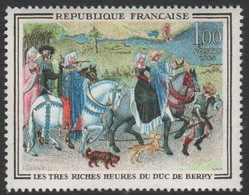 France Neuf Sans Charnière 1965 Illustration Du Livre D'heures Du Duc De Berry  Peinture YT 1457 - Other
