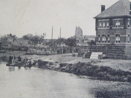CARTE POSTALE Ancienne De WATTEN 59 - NORD Le CANAL De L'AX - Rive Droite Vers 1920 Avec 5 Personnages - Sonstige Gemeinden