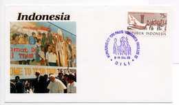 - INDONESIA - FDC VISITA DI S.S. GIOVANNI PAOLO II (Pape Jean-Paul II) - DILI 1989 - - Popes