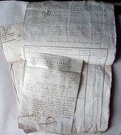 72 SOULIGNE  VENTE DE BIENS NATIONAUX LIASSE DE DOCUMENTS PAIEMENTS EN ASSIGNATS 1795 - Historische Dokumente
