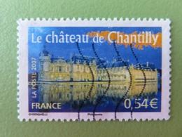 Timbre France YT 4018 - Portraits De Régions - La France à Voir - Le Château De Chantilly - 2007 - 2010-.. Matasellados