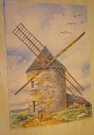 Cp - Belle Série Nos Vieux Moulin à Vent - Barday - En Bretagne Dans L'île De Batz - 1944 - Barday