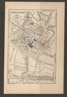 CARTE PLAN 1928 - VITRY LE FRANCOIS QUARTIER DE CAVALERIE PORT GARE SYNAGOGUE - Topographische Karten