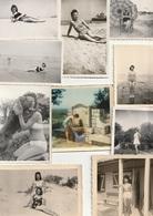 Lot De10 Photos Originales Des Années 50/60 - Pin-up - Plage - Camping - Scan R/V - - Pin-ups
