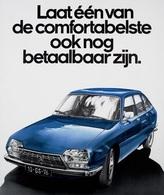 @@@ MAGNET - Laat één Van De Comfortabelste Ook Nog Betaalbaar Zijn - Citroën GS - Publicitaires
