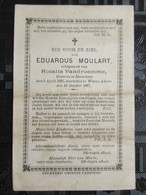 Bidprentje Eduardus Moulart - Boeschepe - Watou Abele 1825 -1887 - Images Religieuses