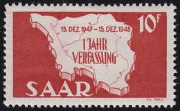 Saarland 260 I Verfassung 10 Fr, Type I, ** - Ohne Zuordnung
