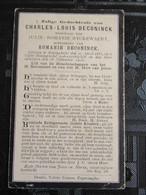 Bidprentje Charles Deconinck (X Ryckewaert ) Reningelst 1831 - 1907 - Images Religieuses