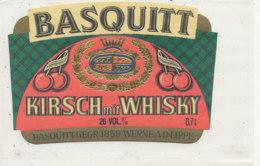 AN 435 / ETIQUETTE   KIRSCH  MIT WHISKY  BASQUITT - Whisky