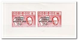 Calf Of Man 1968, Postfris MNH, Olympic Games Mexico 1968, Churchill - Man (Eiland)