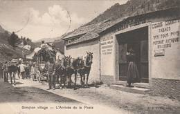 1906 - Simplon Village  - L'Arrivée De La Poste - ( Bel Attelage ) - Scan Recto-verso - VS Valais