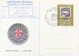 Italy 1987 FDC Postal Stationery Postcard 500 Lire 50th Florentine Musical May 50° Maggio Musicale Fiorentino - Musica