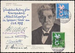 Grundsteinlegung Europadorf Albert Schweitzer In Spiesen/Saar Am 21.9.1958 - Deutschland