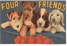 Dogs - Four Friends.  H-656 - Chiens