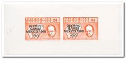 Calf Of Man 1968, Postfris MNH, Churchill, Commonwealth Games 1970 - Man (Eiland)