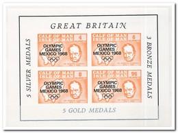 Calf Of Man 1968, Postfris MNH, Churchill, Olympic Games Mexico 1968 - Man (Eiland)