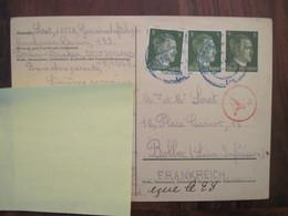 Allemagne France 1943 GEMEINSCHAFTSLAGER Censure Postkarte Cover Lager Deutsches Reich DR STO Bolbec Ww2 - Guerra Del 1939-45