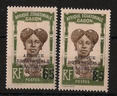Gabon - 1925 - N°Yv. 108 à 109 - Série Complète - Neuf Luxe ** / MNH / Postfrisch - Gabon (1886-1936)