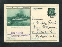 Deutsches Reich / 1933 / Bildpostkarte > UEBERSEEDAMPFER IM HAMBURGER HAFEN, Steg-Stempel Duisburg (17279) - Ganzsachen