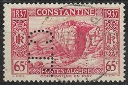 Algérie-N°131 Perforé C.L.-Ancoper C.L. 13 - France