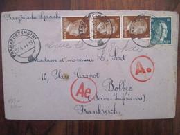 Allemagne France 1943 LAGER Censure Lettre Enveloppe Cover Deutsches Reich DR STO JOFTA BOLBEC GEMEINSCHAFTSLAGER - Marcofilie (Brieven)