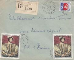 LETTRE . 1968 . RECOMMANDE 105Fr. FLAVY-LE-MARTEL AISNE POUR REIMS. TABLEAU FRANCOIS 1° - 1961-....
