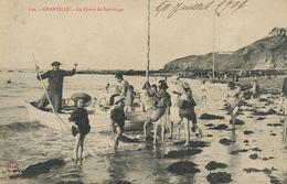 Le Canot De Sauvetage à Granville Lifeboat  Enfants Au Bain  Edit J. Puel - Bateaux