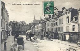 CPA Amiens Place Au Beurre - Amiens