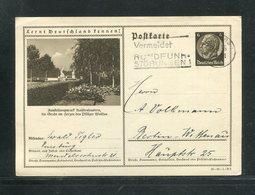 """Deutsches Reich / 1935 / Bildpostkarte > KAISERSLAUTERN, Masch.-Stempel Duisburg """"Rundfunk-Stoerungen"""" (17282) - Ganzsachen"""