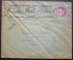 Rabastens (Tarn) 1935 R. Laulanié- Jolivet Représentations Métallurgiques Magasins Et Dépôt à Bordeaux - Postmark Collection (Covers)