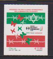 ITALY, 2018, MNH, WWII, HOLOCAUST, BUTTERFLIES, 1v - WW2