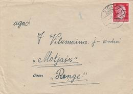 Occupation Allemande En Lettonie Lettre Riga 1944 - Occupation 1938-45