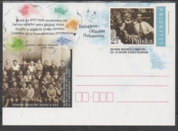 POLAND,2014, MINT, POSTAL STATIONERY, PREPAID POSTCARD, WWII, HOLOCAUST VICTIMS - WW2