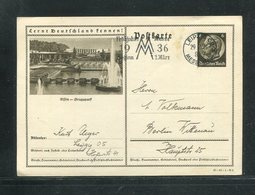 """Deutsches Reich / 1936 / Bildpostkarte > ESSEN-GRUGAPARK, Masch.-Stempel Leipzig """"Messe"""" (17286) - Deutschland"""