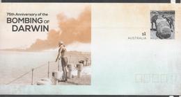 AUSTRALIA, 2017, MINT, POSTAL STATIONERY, PREPAID ENVELOPE, WWII, DARWIN BOMBING, SHIPS, - WW2